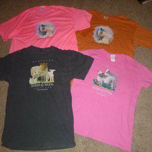 4 Souvenir T-Shirts Maryland Sheep & Wool Festival